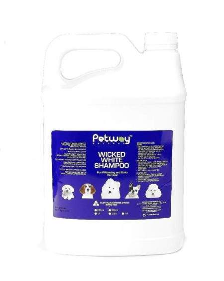 PETWAY 5 LTR SHAMPOO WICKED WHITE WHITENING