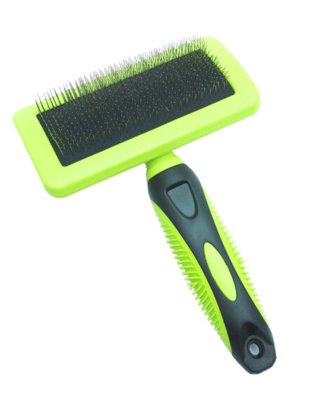 SMART COAT CURVED SLICKER BRUSH MEDIUM GREEN HANDLE