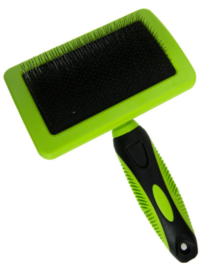 SMART COAT CURVED SLICKER BRUSH LARGE GREEN HANDLE