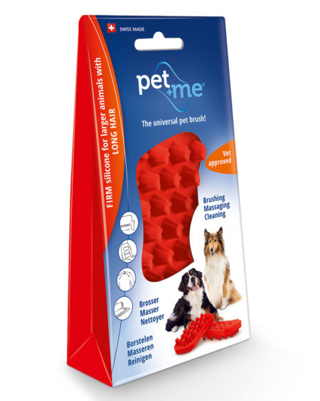 PETWAY PET + ME RED BRUSH FIRM