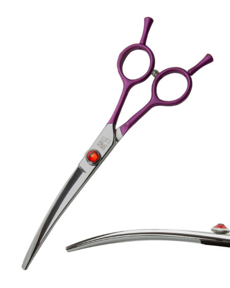FUSION SCISSORS CURVED PINK 6.5
