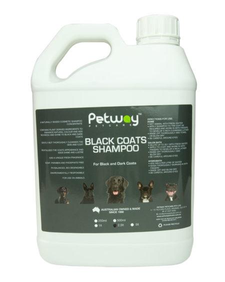 PETWAY BLACK COATS SHAMPOO 2.5 ltr