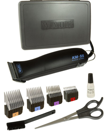 WAHL KMSS PET CLIPPER with 4 snap on combs