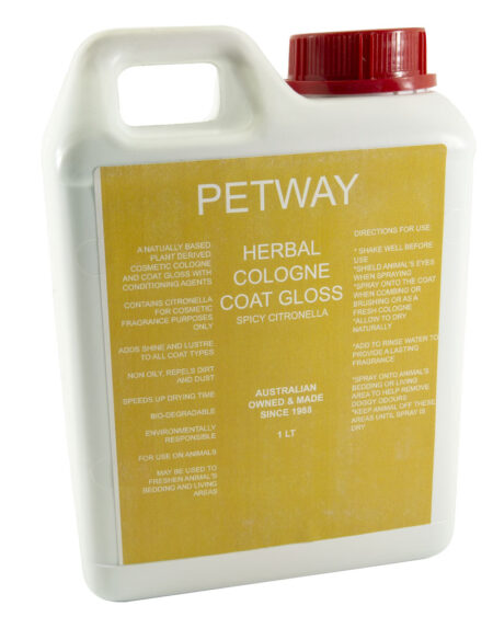 PETWAY 1 LTR COLOGNE COAT GLOSS HERBAL