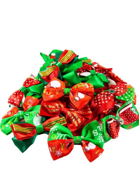 XMAS BOW TIES 20 PER PACK ASSORTED