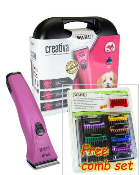 WAHL CREATIVA CORDLESS CLIPPER with BONUS 5 IN 1 GUIDE COMB SET