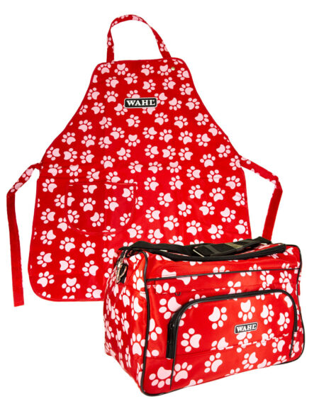 WAHL  GROOMING BAG AND APRON PAW PRINT
