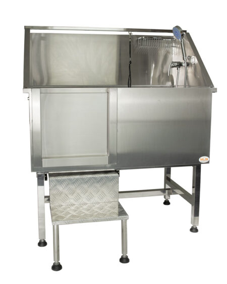 GROOM U ME STAINLESS STEEL BATH WITH STEPS