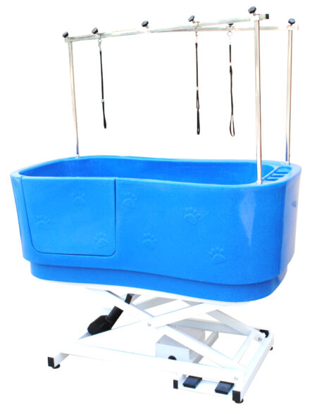 SMARTCOAT BLUE PLASTIC PAW PRINT ELECTRIC LIFT BATH
