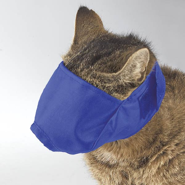 SMART COAT CAT MUZZLE BLUE MEDIUM
